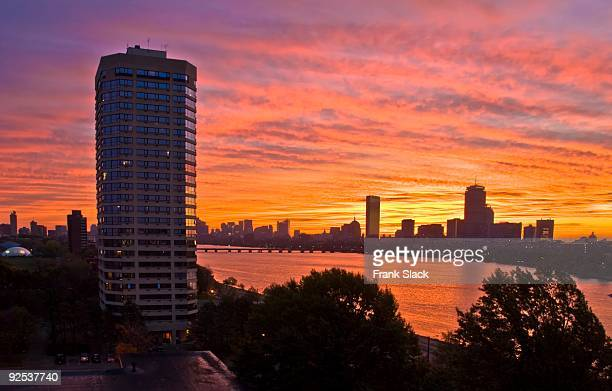 charles river sunrise - cambridge massachusetts stock pictures, royalty-free photos & images