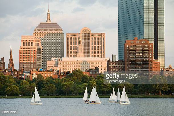 Charles river with Boston skyline, Massachusetts