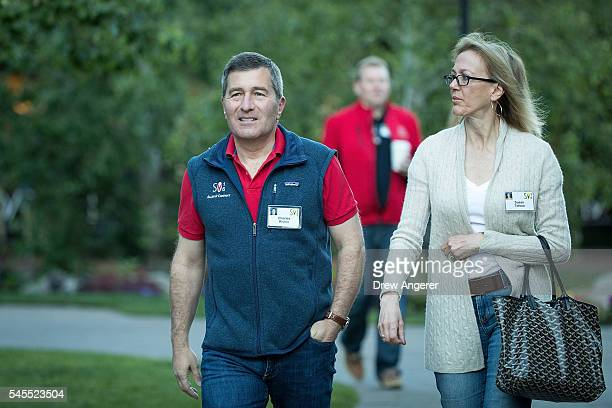 Charles Rivkin assistant Secretary of State for economic and business affairs and Susan Tolson attend the annual Allen Company Sun Valley Conference...