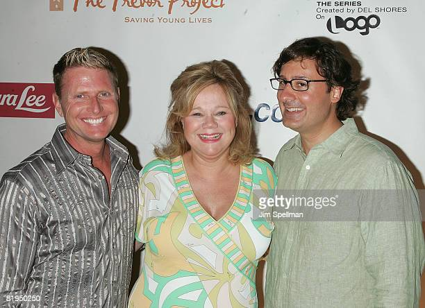 Charles Robbins Actress Caroline Rhea and Costaki Economopoulos attend the New York premiere of Sordid Lives The Series at the New World Stages on...