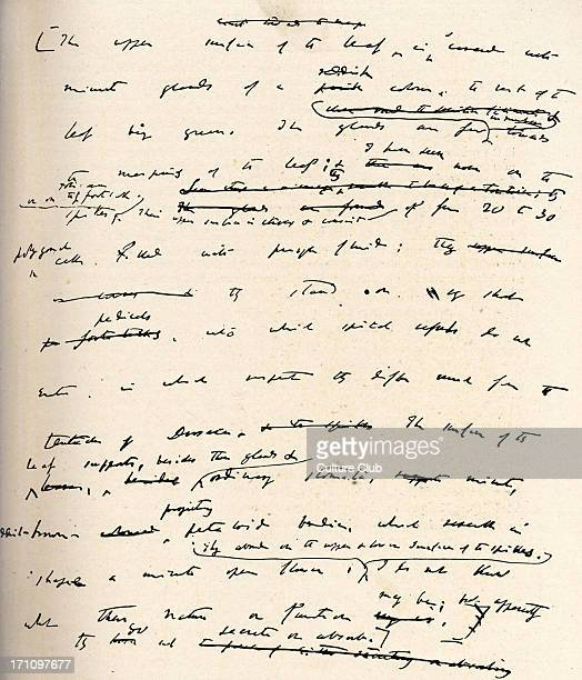 Charles Robert Darwin - Page from a manuscript by the English naturalist, the originator of the theory of evolution by natural selection. 1809-1882.