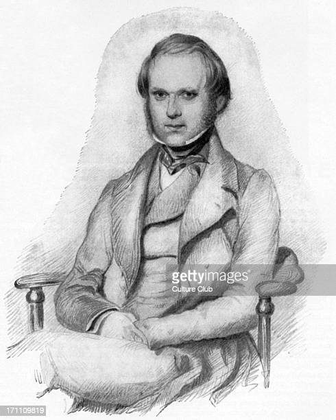 Charles Robert Darwin portrait of the British naturalist as a young man 12 February 1809 19 April 1882 From 'A Diary of the Voyage of HMS Beagle' The...