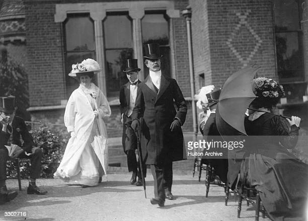 Charles Robert Spencer the 6th Earl Spencer and Lord Chamberlain Behind him is his son Albert Edward John Spencer Lord Althorp