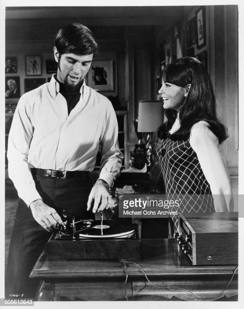 Charles Robinson and Shelley Fabares discover they made it big in a scene from the movie A Time to Sing circa 1968