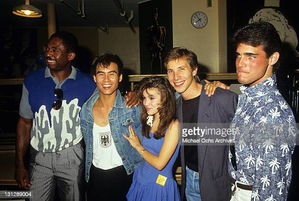 Charles Robinson BD Wong Alyssa Milano Rob Stone and Brian Bloom are part of the allstar cast from the television movie 'Crash Course' 1988
