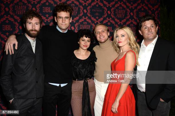 Charles Rogers John Reynolds Alia Shawkat John Early Meredith Hagner and Michael Showalter attend the season 2 premiere of 'Search Party' at Public...