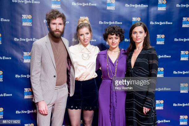 Charles Rogers SarahViolet Bliss Alia Shawkat and Lilly Burns attend the 2017 IFP Gotham Awards at Cipriani Wall Street on November 27 2017 in New...