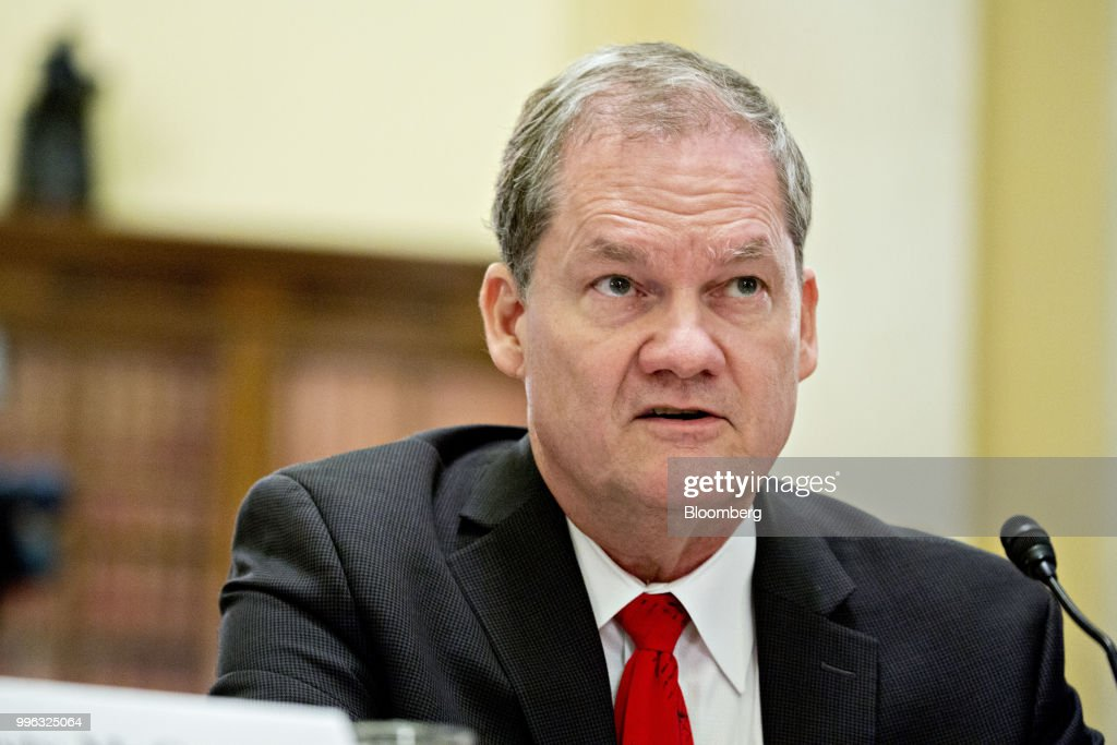Charles Romine, director of the Information Technology Laboratory with the National Institute of Standards and Technology, speaks during a Senate Rules and Administration Committee hearing on election security in Washington, D.C., U.S., on Wednesday, July 11, 2018. The Election Assistance Commission (EAC), one of the smallest federal agencies with the big job of helping to protect voting systems from foreign interference is in charge of distributing $380 million in new grants to states for election security, with the goal of getting the money out in time to upgrade voting systems by November. Photographer: Andrew Harrer/Bloomberg via Getty Images