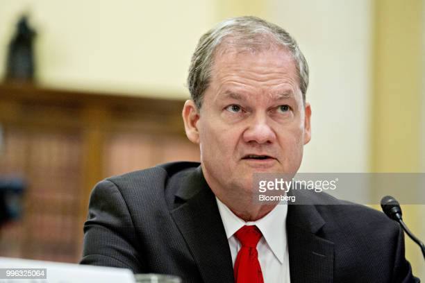 Charles Romine director of the Information Technology Laboratory with the National Institute of Standards and Technology speaks during a Senate Rules...