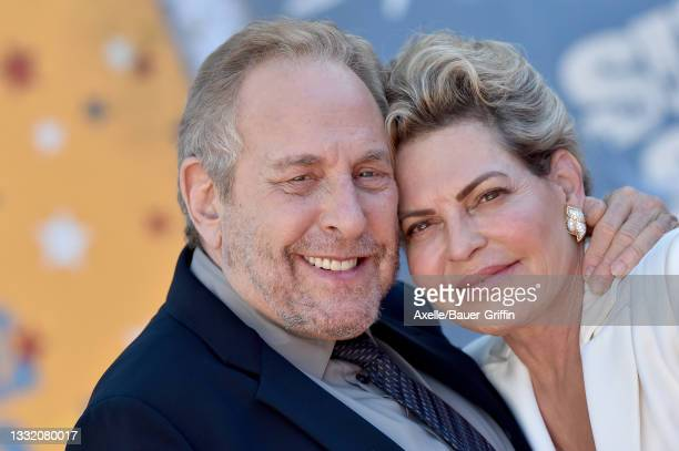 """Charles Roven and Stephanie Haymes Roven attend Warner Bros. Premiere of """"The Suicide Squad"""" at The Landmark Westwood on August 02, 2021 in Los..."""