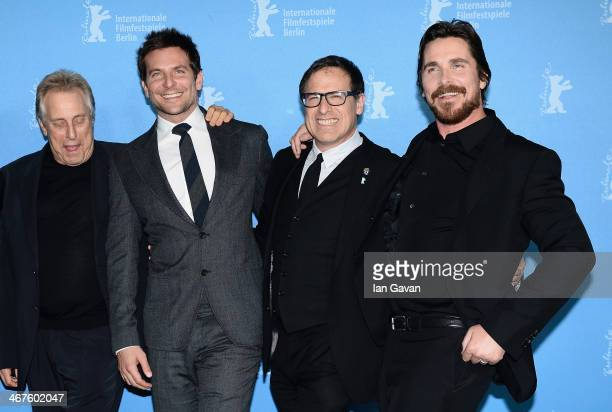 Charles Roven Bradley Cooper David O Russell and Christian Bale attend the 'American Hustle' photocall during 64th Berlinale International Film...