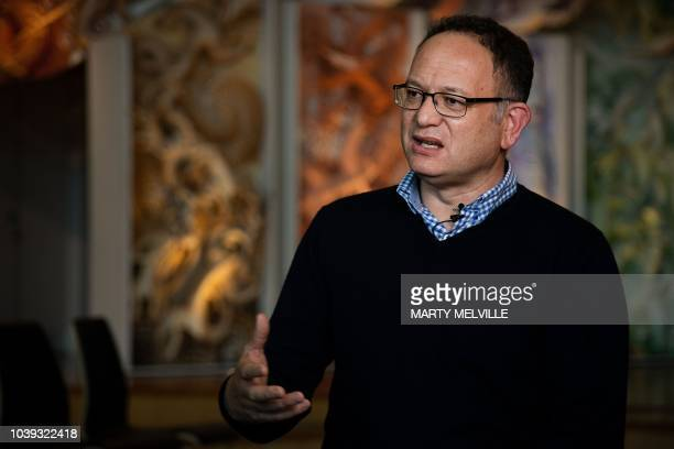 Charles Royal a Maori scholar and storyteller at the Marae at Te Papa the national museum of New Zealand gestures in Wellington on September 13 2018...