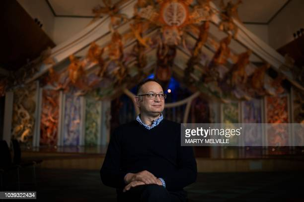 Charles Royal a Maori scholar and storyteller at the Marae at Te Papa the national museum of New Zealand poses in Wellington on September 13 2018 Te...