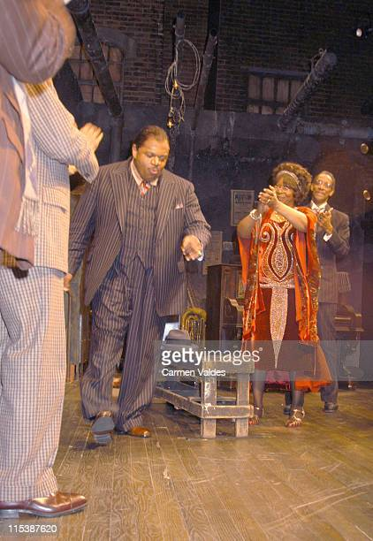 Charles S Dutton Whoopi Goldberg and Cast during Play Opening Ma Rainey's Black Bottom at Royale Theatre in New York City New York United States