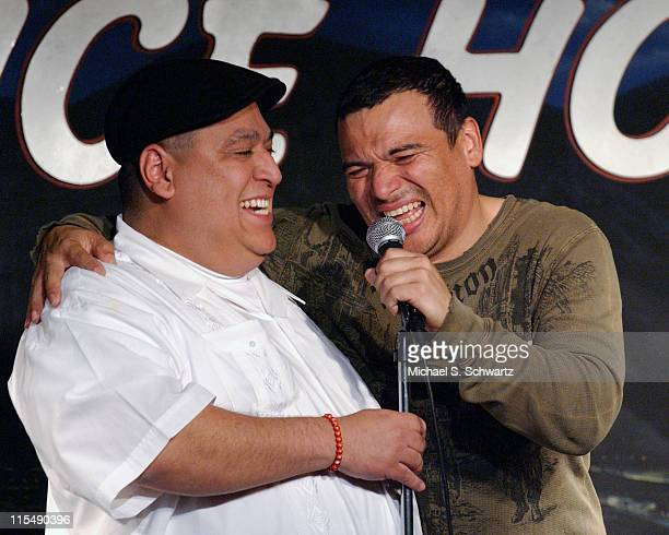 Charles Sanchez and Carlos Mencia perform at the Ice House Comedy Club on February 5 2008 in Pasadena California