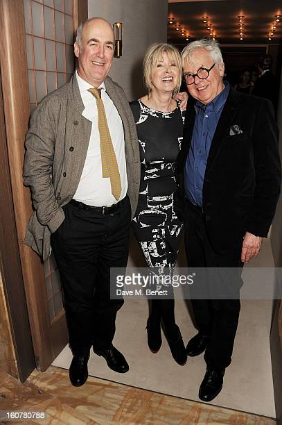 Charles Saumarez Smith, Julia Somerville and Jeremy Dixon attend a reception hosted by Sir David Chipperfield to celebrate the awarding of the RIBA...