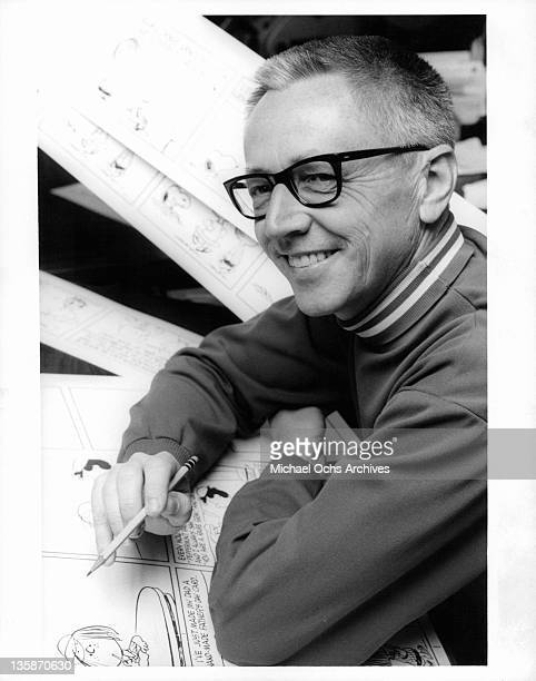 Charles Schulz in a scene from the documentary 'Charlie Brown And Charles Schulz', 1969.