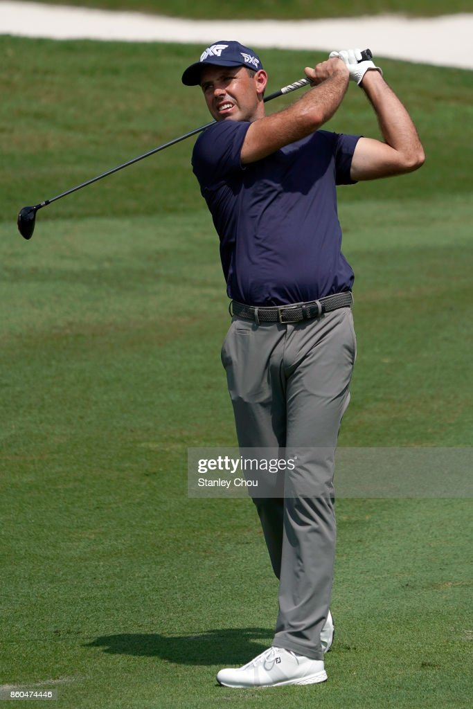 Charles Schwartzel of South Africa in action during round one the 2017 CIMB Classic at TPC Kuala Lumpur on October 12, 2017 in Kuala Lumpur, Malaysia.