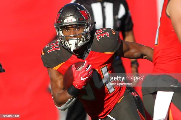 Charles Sims III of the Bucs carries the ball during the regular season game between the Detroit Lions and the Tampa Bay Buccaneers on December 10...