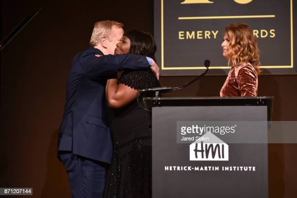 Charles Smith Bevy Smith and Sandra Bernhard attend HetrickMartin Institute's 2017 'Pride Is' Emery Awards at Cipriani Wall Street on November 6 2017...