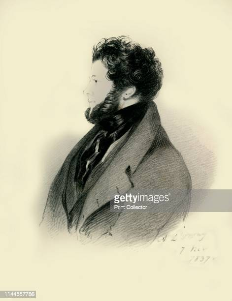 """Charles Standish Esquire M.P.', 1837. Portrait of British politician and sportsman Charles Standish . From """"Portraits by Count D'Orsay"""", an album..."""