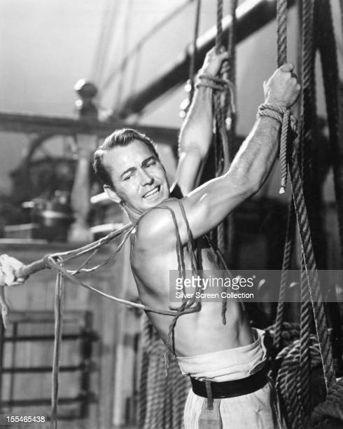 Charles Stewart played by American actor Alan Ladd is subjected to a flogging in 'Two Years Before The Mast ' directed by John Farrow 1946