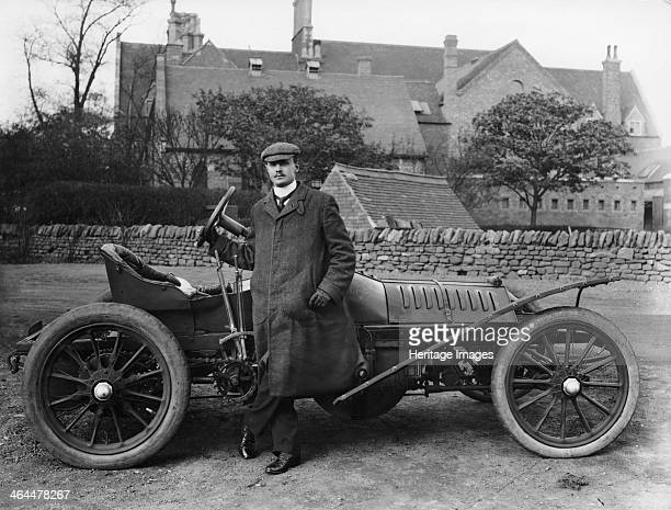 Charles Stewart Rolls with a 1905 Wolseley c1905 CS Rolls English motorist aviator and automobile manufacturer Rolls set up business selling French...