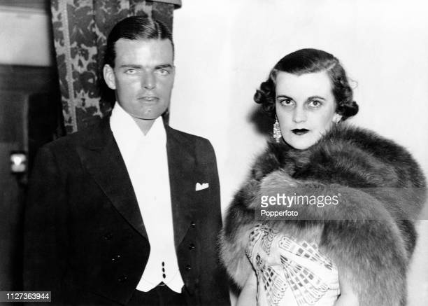 Charles Sweeny and his wife Margaret Sweeny pictured together attending the premiere of the play 'Golden Boy' at St James' Theatre in London on 22nd...