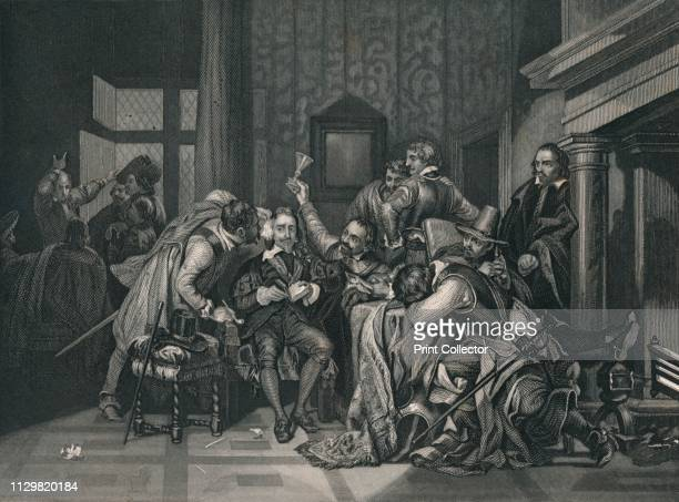'Charles The First In The Guard Room' King Charles I is insulted by the soldiers of Oliver Cromwell 27 January 1649 Charles was monarch of the three...