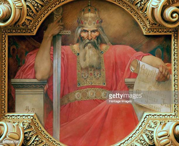 Charles the Great King of the Franks 1897 Found in the Collection of Palais de Justice Paris