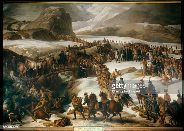 Charles Thevenin The French Army Crossing the Grand Saint Bernard Pass May 20th 1800 1806 Oil on canvas 467 x 795 m Versailles Chateaux de Versailles...