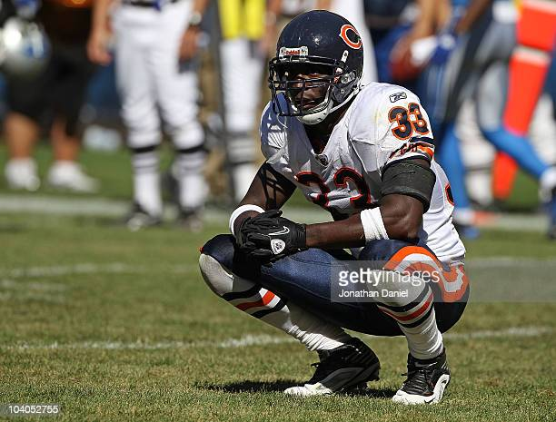 Charles Tillman of the Chicago Bears waits for an instant replay call near the end of the NFL season opening game against the Detroit Lions at...