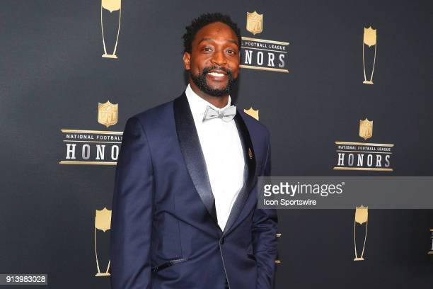 Charles Tillman poses for Photographs on the Red Carpet at NFL Honors during Super Bowl LII week on February 3 at Northrop at the University of...