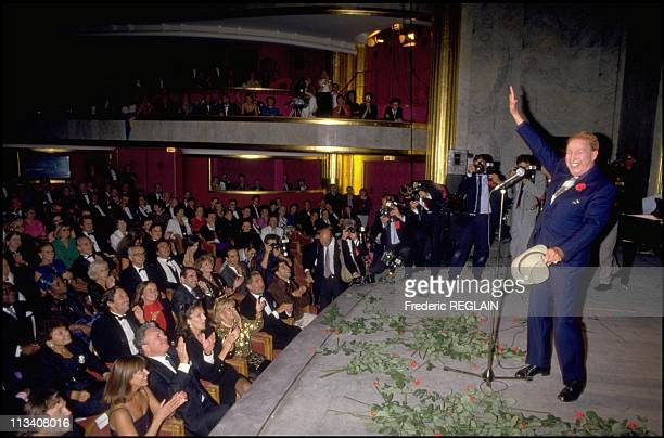 Charles Trenet celebrates his Jubilee at ChampsElysees theatre On September 26th 1987 In ParisFrance