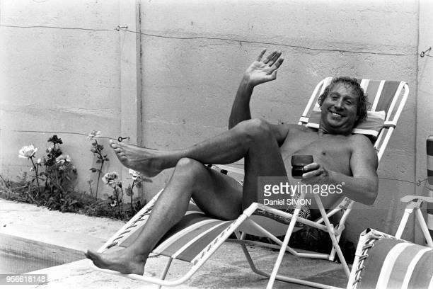 Charles Trenet chez lui à Perpignan en 1972, France.