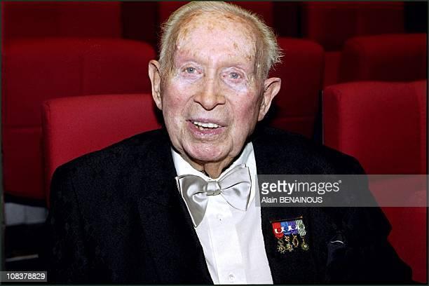 Charles Trenet in Paris, France on October 24, 2000.