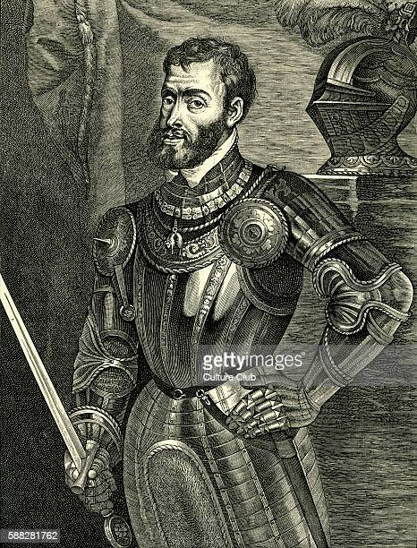Charles V portrait of Holy Roman emperor 24 February 1500 21 September 1558 Known as Carlos I de España y V de Alemania in Spain After portrait by...