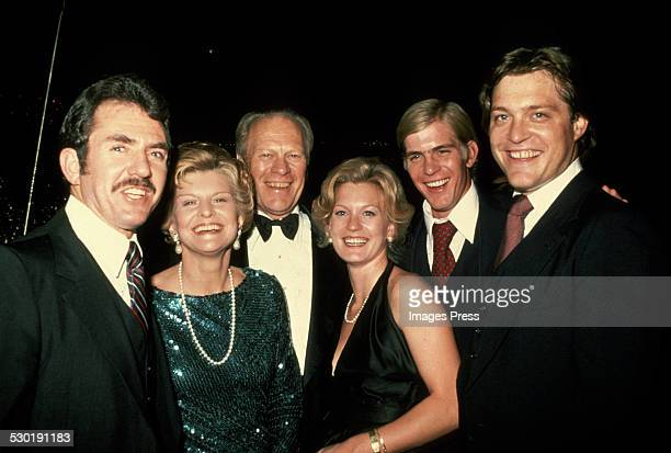 Charles Vance Betty Ford Gerald Ford Susan Ford Steven Ford and Jack Ford circa 1980 in New York City