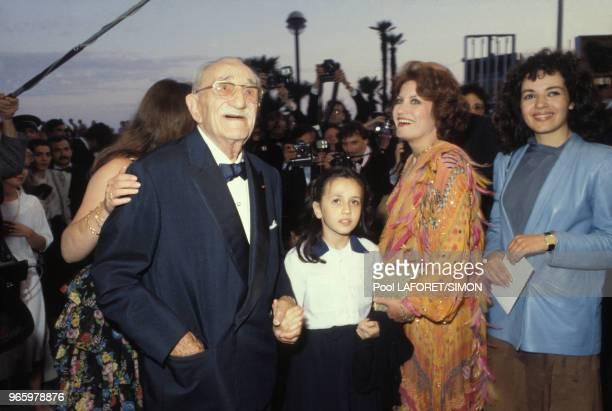 Charles Vanel et Andréa Ferréol au Festival de Cannes le 23 mai 1976 en France