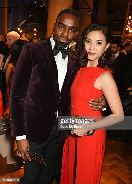 Charles Venn and Crystal Yu attend the 21st National Television Awards at The O2 Arena on January 20 2016 in London England