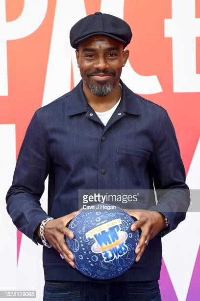 """Charles Venn attends a special screening of """"SPACE JAM: A NEW LEGACY"""" in cinemas 16th July at Cineworld Leicester Square on July 11, 2021 in London,..."""