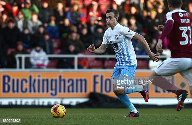Charles Vernam of Coventry City in action during the Sky Bet League One match between Northampton Town and Coventry City at Sixfields on January 28...
