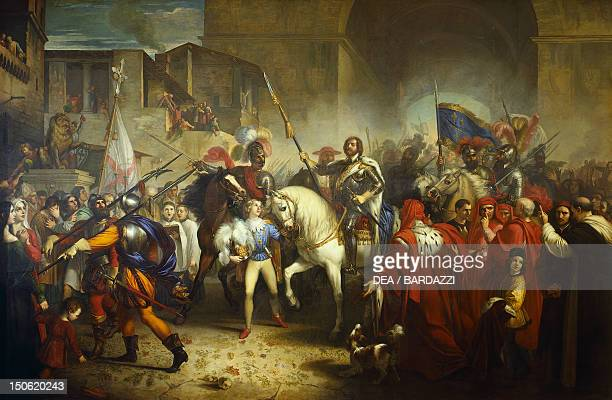 Charles VIII entering Florence by Giuseppe Bezzuoli oil on canvas 290x356 cm Wars of Italy Italy 15th century