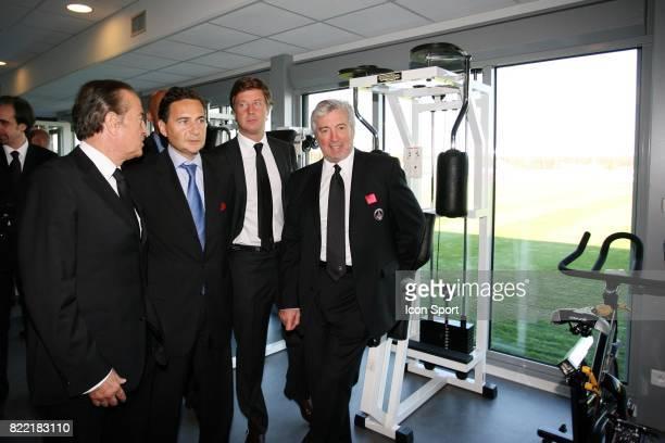 Charles VILLENEUVE Eric BESSON Sebastien BAZIN Alain CAYZAC Inauguration du Nouveau Centre d'entrainement du PSG Saint Germain en Laye Camp des Loges