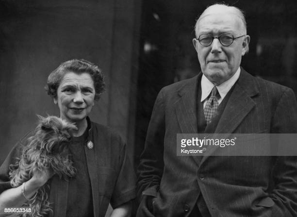 Charles Vyner Brooke the last White Rajah of Sarawak with his wife Sylvia in their flat in London following the cession of Sarawak to the British...