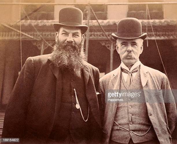 Charles W Alcock the secretary of Surrey County cricket club with Dr WG Grace at the Kennington Oval in London circa 1900 Alcock was also the...