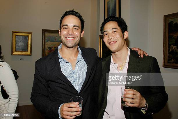 Charles Ward and Lawrence Lee attend MARLENE STEINER Hosts An Evening Of REAL ESTATE ART at NYC on June 21 2007