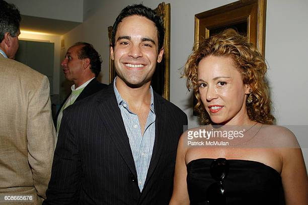 Charles Ward and Lori Gaeta attend MARLENE STEINER Hosts An Evening Of REAL ESTATE ART at NYC on June 21 2007