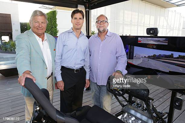 Charles Ward Clark Hanrattie and Marty Collins attend the Auto Gallery Event at the residences at W Hollywood on September 5 2013 in Hollywood...