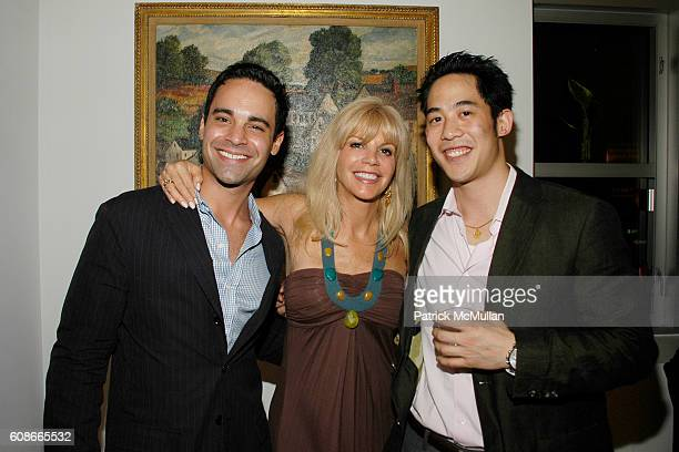 Charles Ward Nancy Pearson and Lawrence Lee attend MARLENE STEINER Hosts An Evening Of REAL ESTATE ART at NYC on June 21 2007